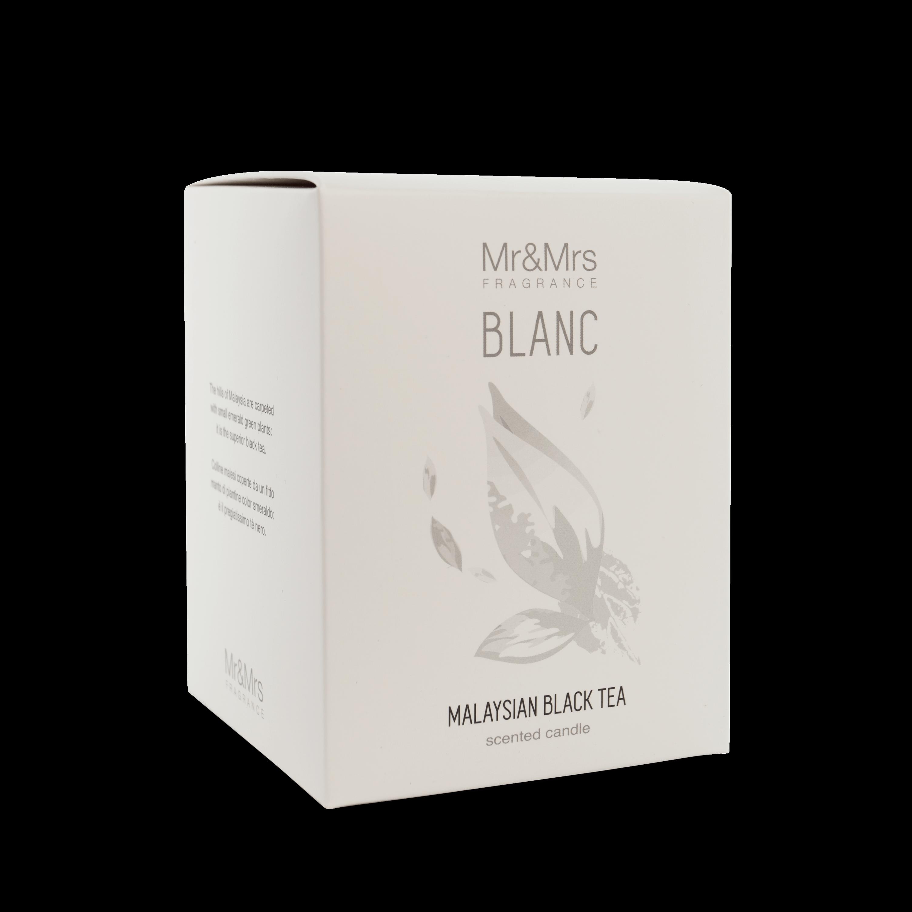Mr&Mrs Fragrance MR&MRS FRAGRANCE VONNÁ SVÍČKA BLANC - MALAYSIAN BLACK TEA, 250 g