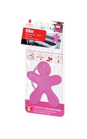 Mr&Mrs Fragrance TITO voňavý panáček, růžový - Citrus&Musk