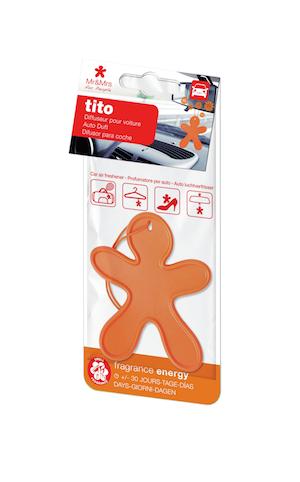 Mr&Mrs Fragrance TITO voňavý panáček, oranžový - Energy