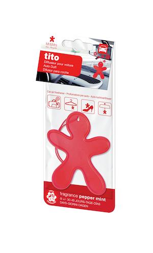 Mr&Mrs Fragrance TITO voňavý panáček, červený - Pepper Mint